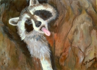 bandit-yawn-raccoon-painting-malowany