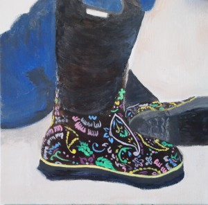 """Pamela's Boots"", in progress"