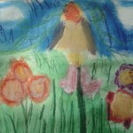 Oil pastel and watercolour by Haley