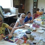 Having fun inside the studio at Art Camp!