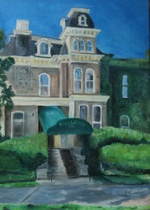 Roselawn oil painting