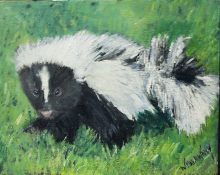 baby-skunk-painting-malowany