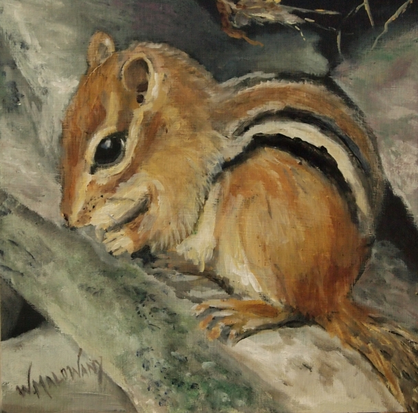 Tickly-Bob-chipmunk-painting-malowany