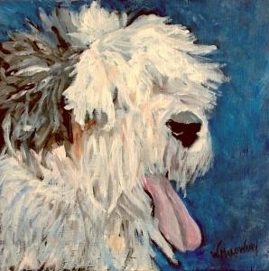 albert-old-english-sheepdog-painting-malowany