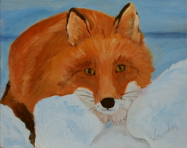 red-fox-painting-malowany