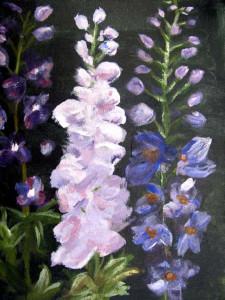 acrylic_beginner_floral_Purple_Delphinium-2