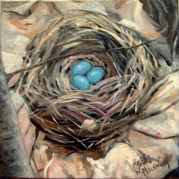 robin-nest-painting-malowany
