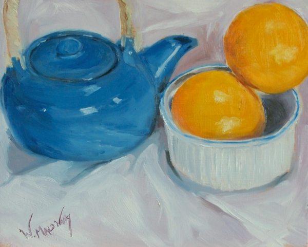 blue-teapot-orange-still-life-painting-malowany