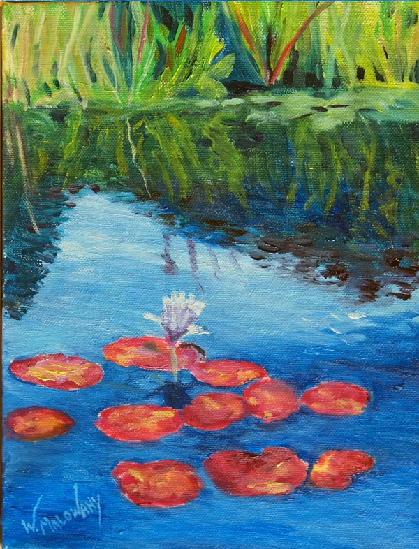 royal-garden-water-lilies-oil-painting-malowany