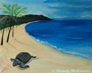 sunbathing-sea-turtle