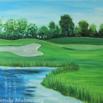 golf-course-view-painting-malowany