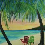 beach-chair-view-hawaii-painting-malowany