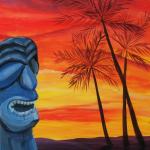 tiki-sunset-malowany-painting