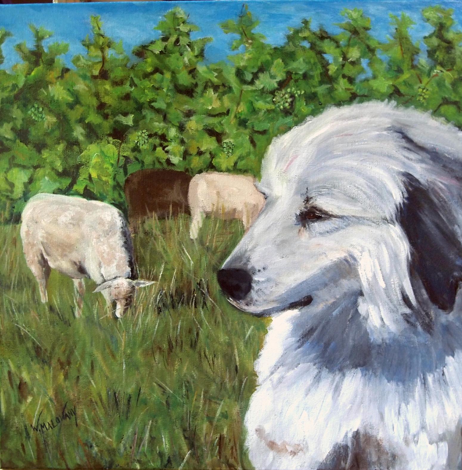 on-guard-painting-wendy-malowany
