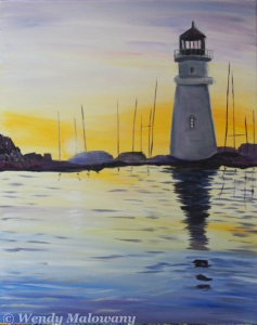port-dalhousie-sunset-painting-malowany