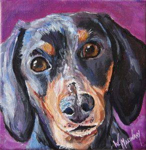 sadie-dachshund-painting-malowany
