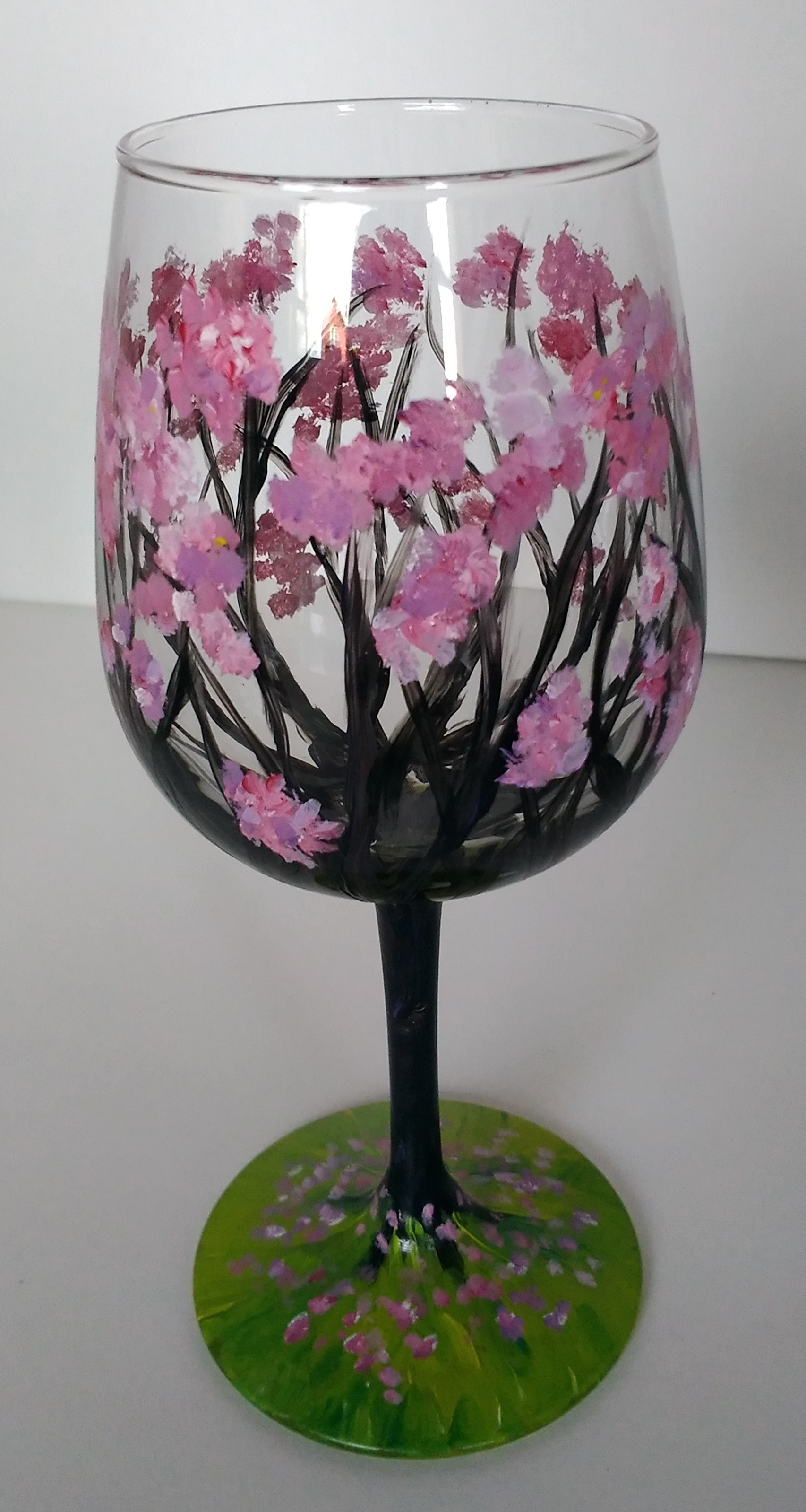 cherry-blossoms-wine-glass-malowany