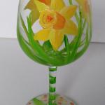 daffodil-wine-glass-painting-malowany